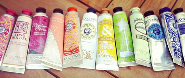 L'Occitane mini hand creams