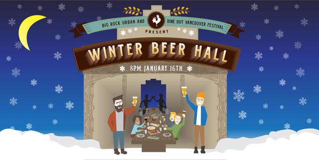 Winter Beer Hall poster