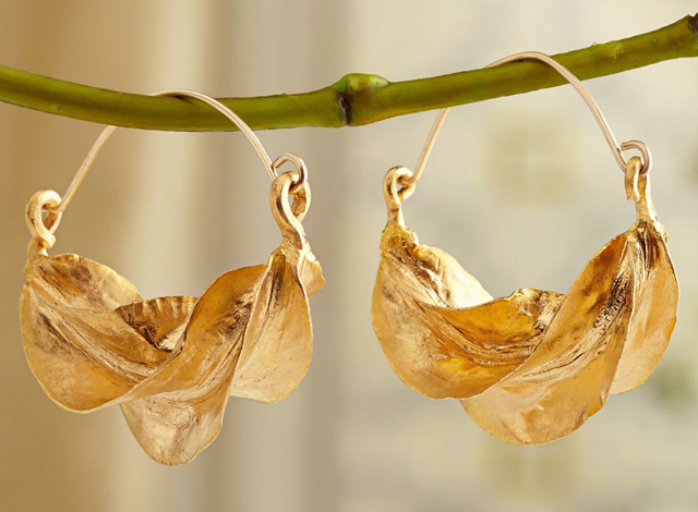 Gold-Plated Fulani Tribal Earrings