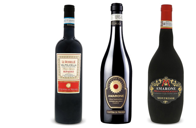 Italian red wine trio
