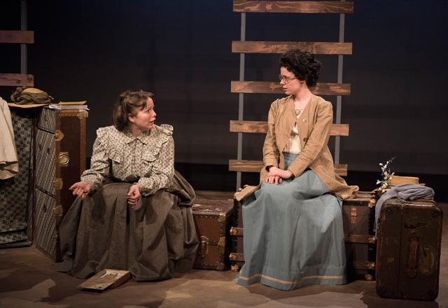 Samantha-Sue Pawliuk, Camille Legg in The Train Carr