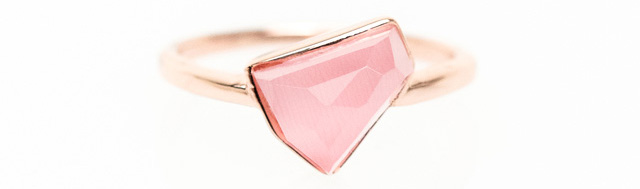 Ona Chan boyfriend ring pink stone