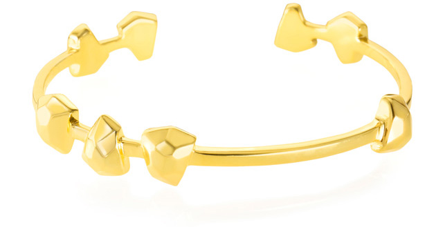 Ona Chan Boyfriend Cuff in gold