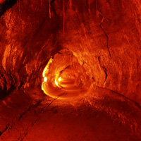 Lava tube, Volcanoes National Park, Hawaii