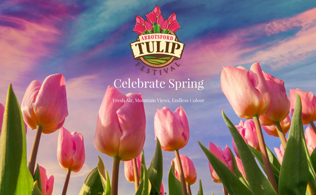 Abbotsford Tulip Festival banner