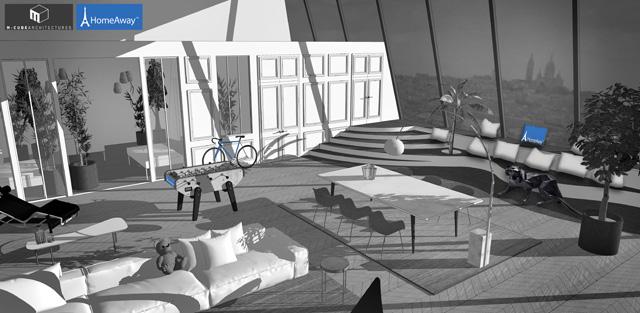 HomeAway Eiffel Tower: Designer renderings