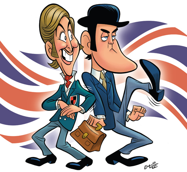 John Cleese and Eric Idle