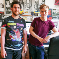 Chae and Jamie of Tenement TV, Glasgow