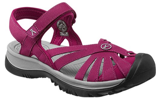 KEEN Rose sandal, beet red/neutral gray