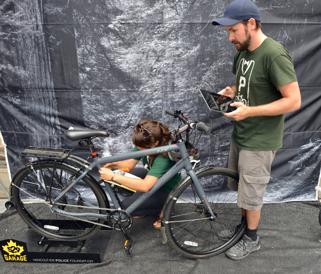 Get your bicycle registered with 529 Garage for free at The Bicycle Valet on Granville Island