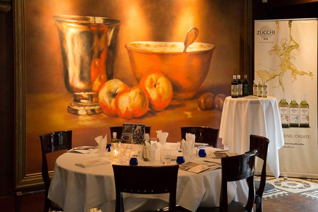 Zucchi olive oil event at La Terrazza, Vancouver