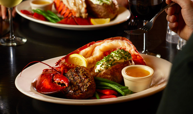 Steak and Half Lobster at The Keg