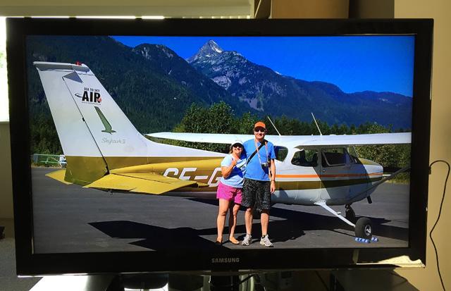 Roku photos on our TV