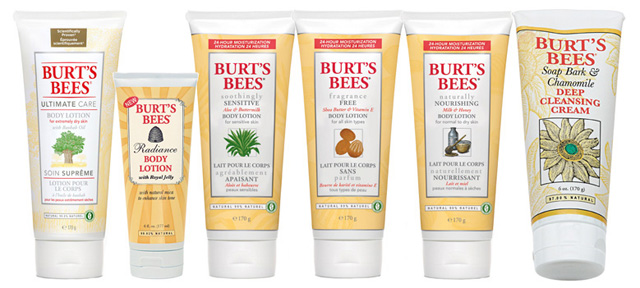 Burt's Bees lotions