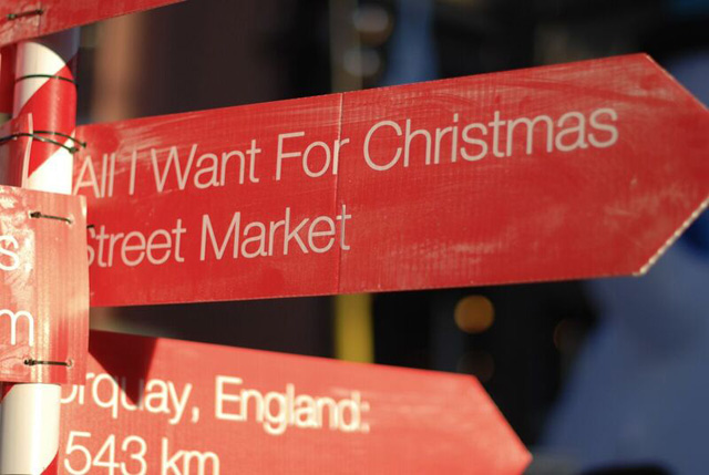 candy town Christmas Market, Vancouver