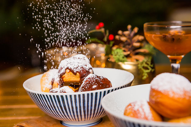 Mocha Profiteroles and Gingerbread Spiced Donut Balls