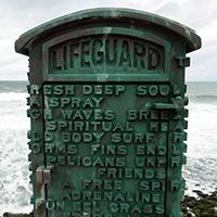 La Jolla lifeguard marker