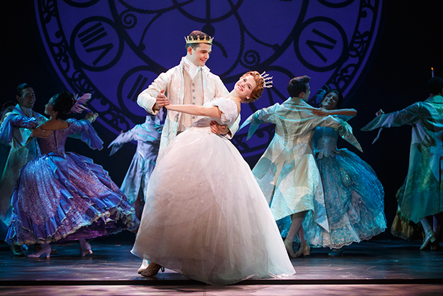 Hayden Stanes, Tatyana Lubov and the company of Rodgers and Hammerstein's Cinderella