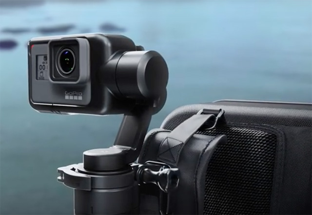 GoPro KARMA on backpack