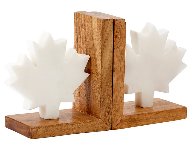 Maple Leaf Bookends
