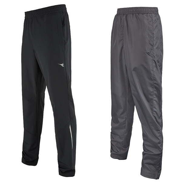 Diadora Mens Textured Woven Track Pants