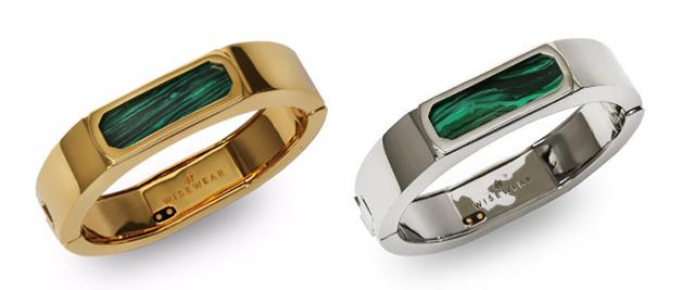 WiseWear Duchess bracelets in gold, palladium