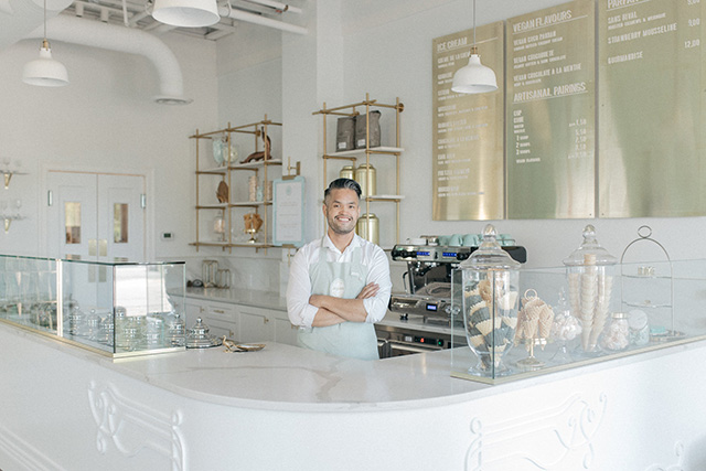 Mark Tagulao of La Glace Ice Cream