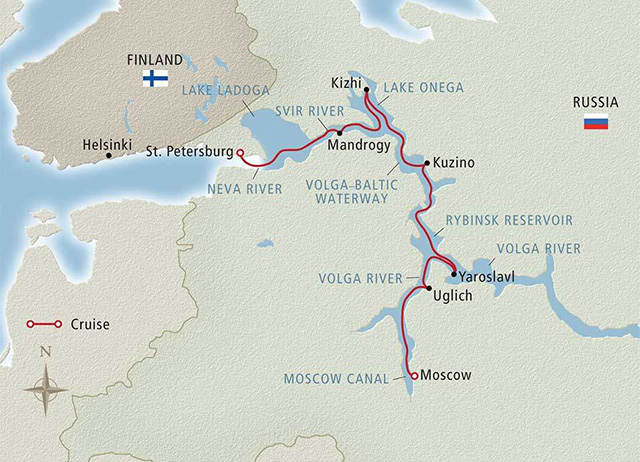 Russia cruise map