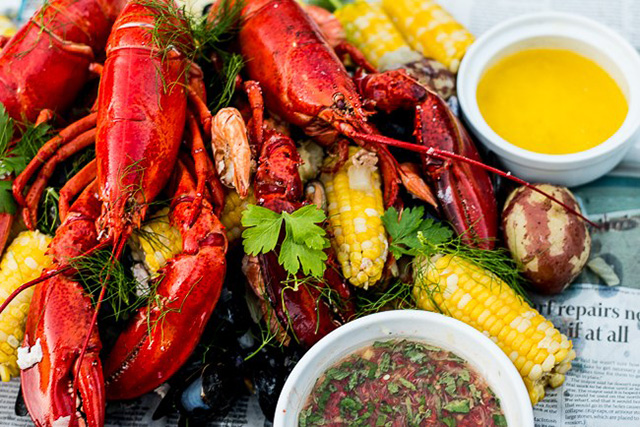 lobster boil at Central Park Farms
