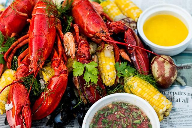 lobster boil at Central Park Farms
