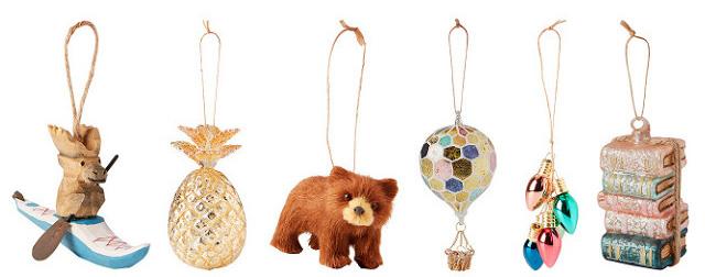 Indigo ornaments