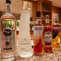 Russian vodka selection