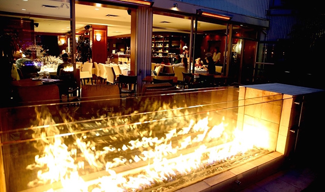 Granville Island Hotel fireplace