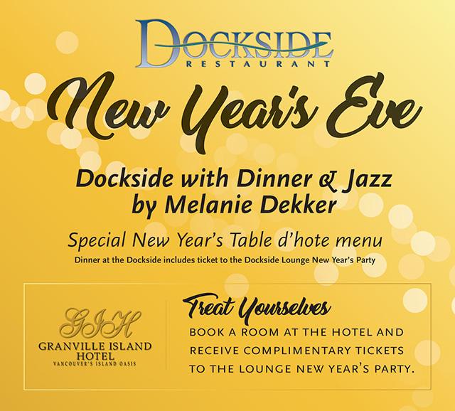 Dockside Restaurant NYE poster