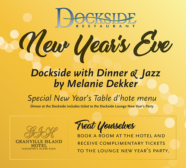 Dockside Restaurant NYE poster