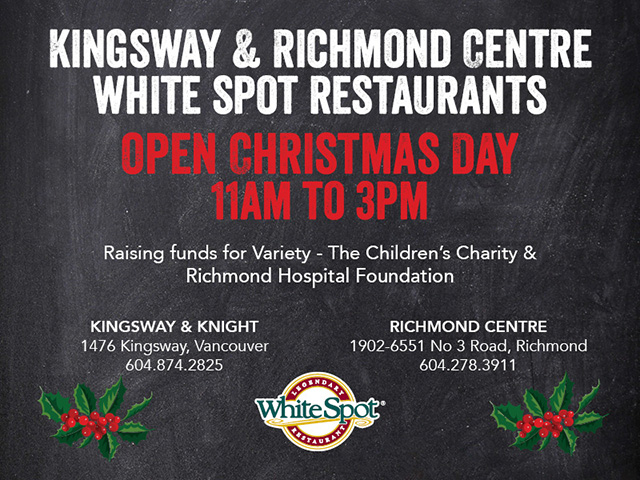 White Spot Christmas Charity Luncheon
