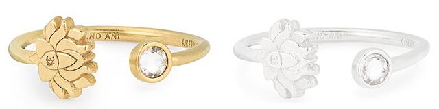 Lotus Peace Petals Adjustable Ring