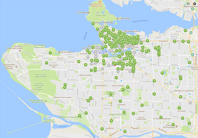 Vancouver wifi map