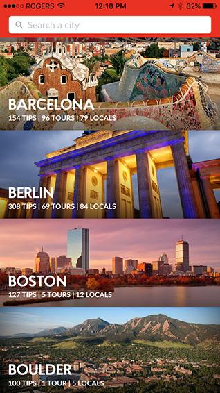 City options list