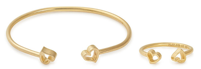 Alex and Ani Heart Cuff and ring