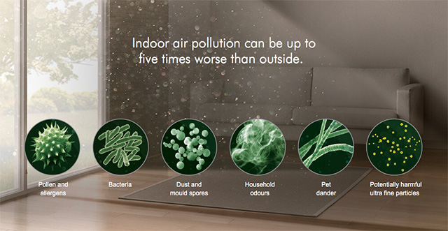 Pure Hot+Cool Link Indoor pollutants