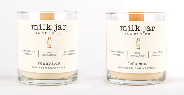 Milk Jar Candles