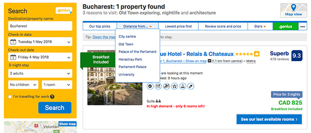 Booking.com screen shot