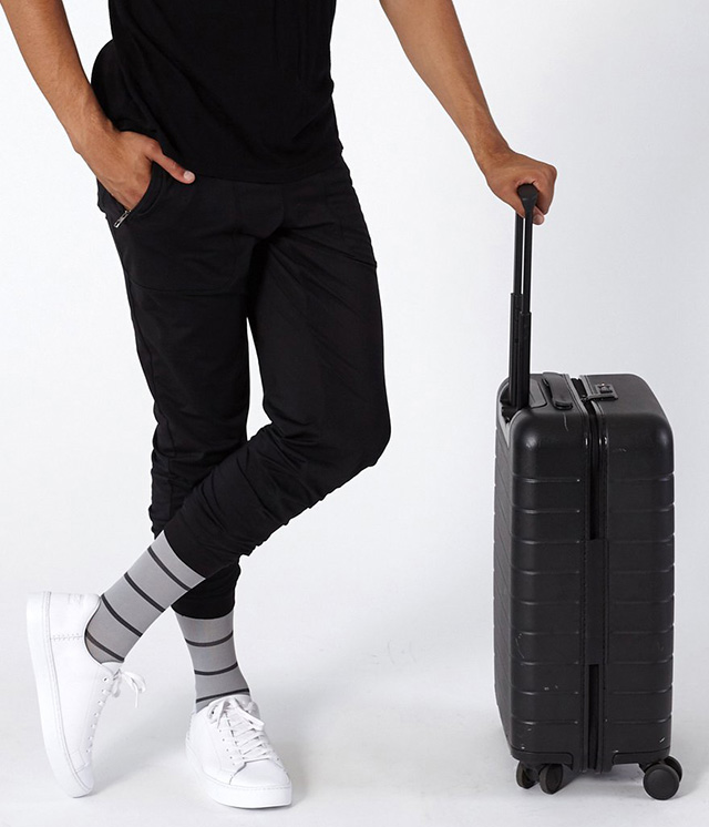 Comrad socks with suitcase