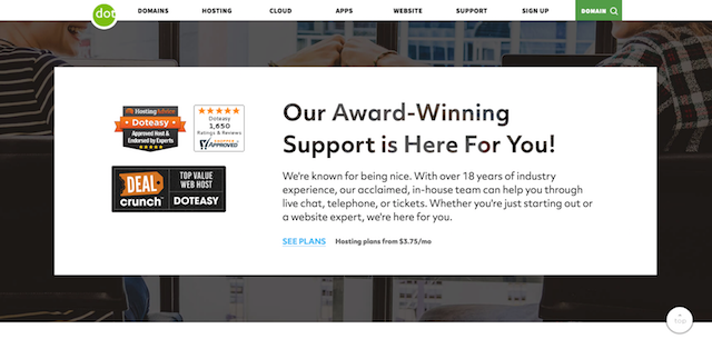Doteasy Award-Winning Support