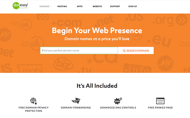Domain Names with Doteasy