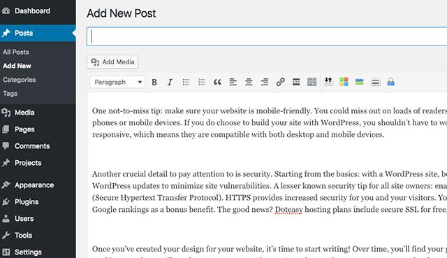 Adding A WordPress Post
