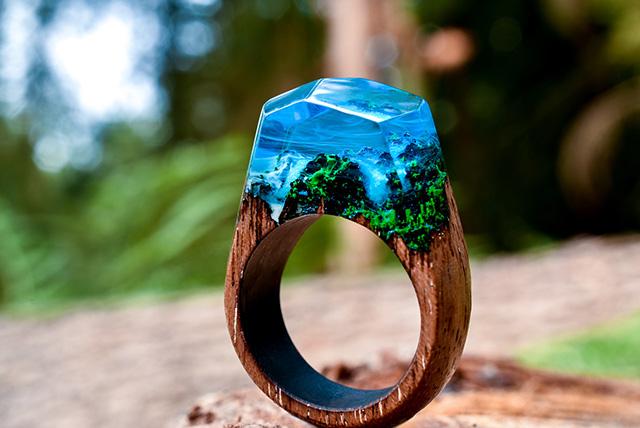 Secret Wood Azure Falls ring
