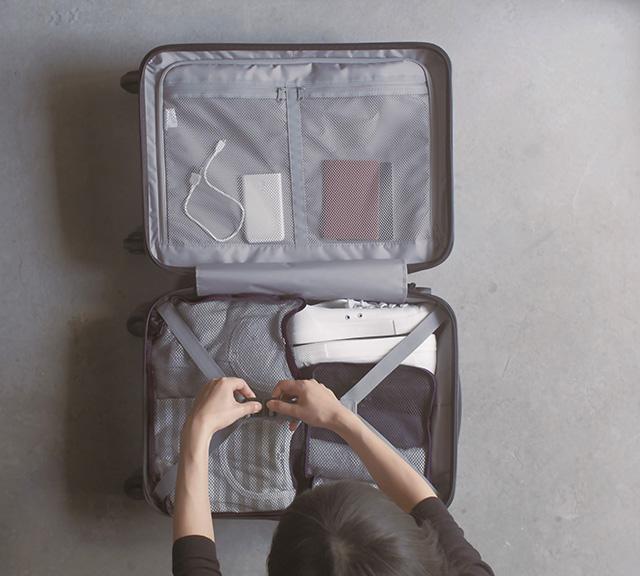 MUJI suitcase open