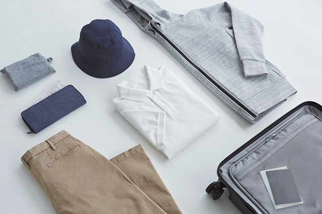 MUJI Suitcase with clothing